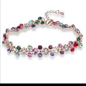 Multi color Swarovski gemstone bracelet.